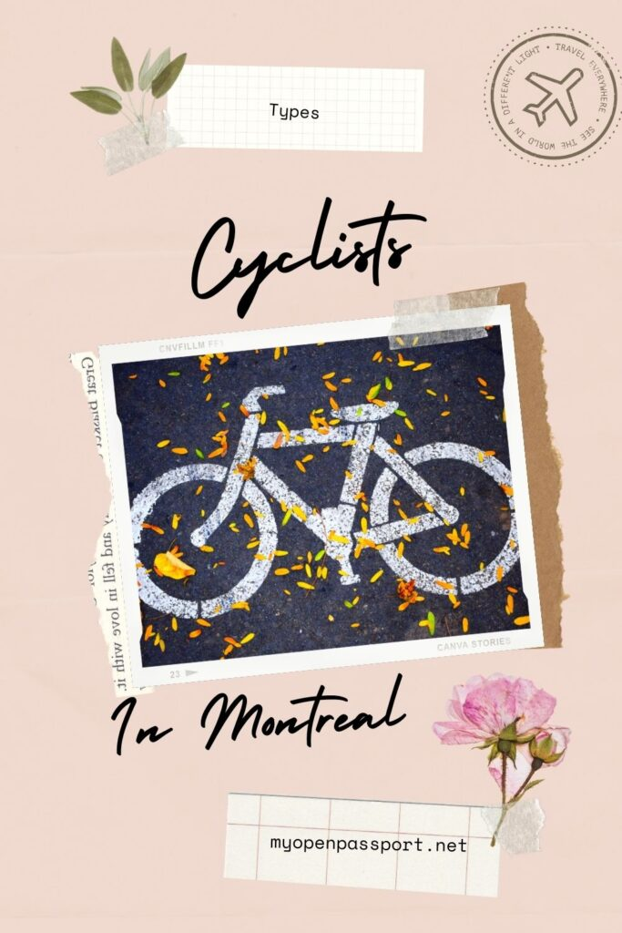 Cyclists in Montreal