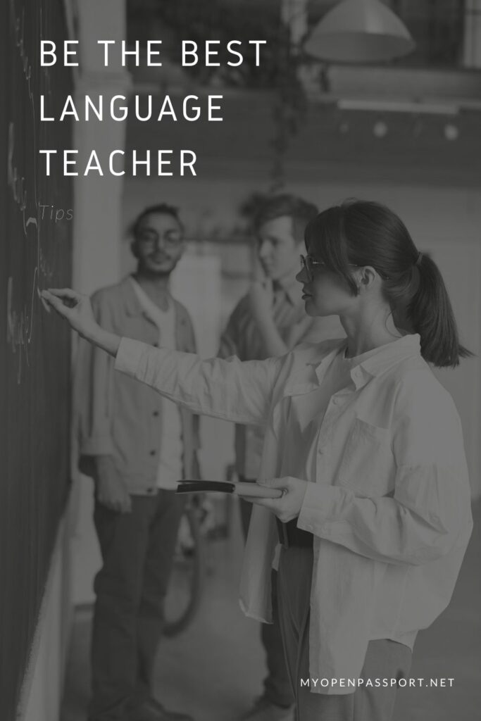 Tips to be the best language teacher